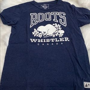 Roots Whistler Canada Blue Tee S/P